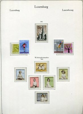 LUXEMBOURG 1962-69 MNH COLLECTION 145 Stamps