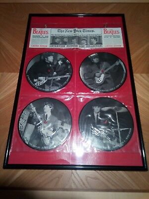 "THE BEATLES  * 4 x 7"" Singles ""Interview Picture Discs""  New York Times  Limited"