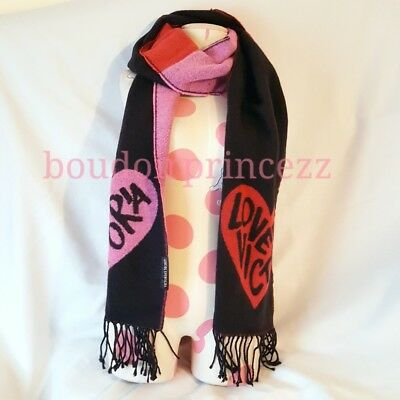 NEW Victorias Secret woven soft scarf red pink Love Victoria Valentines Day gift