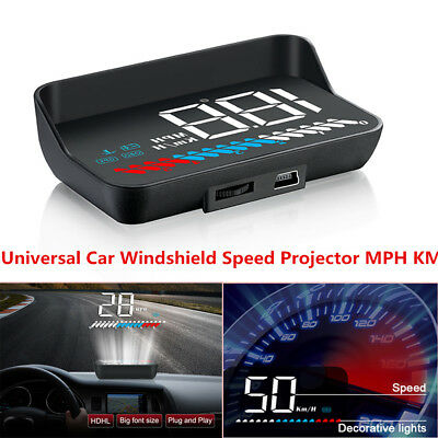 HUD Head Up Display USB OBD GPS Autos Car Windshield Speed Projector MPH KMH