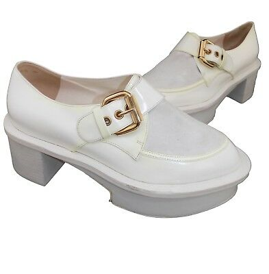 624fd044b5 SCARPA DONNA POLLINI pelle bianco FIBBIA 37 shoes made in italy
