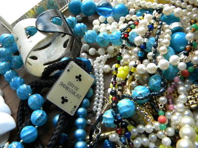 VINTAGE TO NOW 5+ Lbs Junk Jewelry Lot Estate Lot REPURPOSE CRAFTS WEARABLE