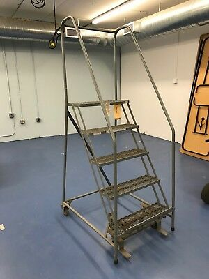 Industrial & Warehouse Ladder with Handrails