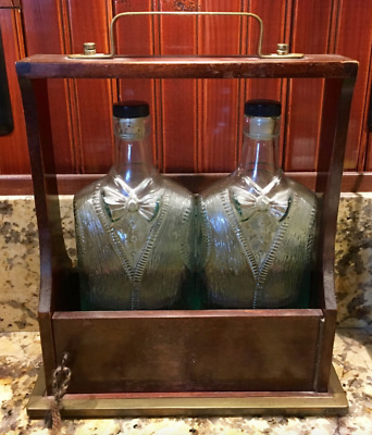 Tantalus Liquor Caddy, 2 bottle w/lock & key