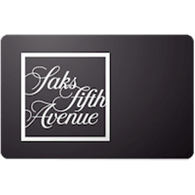 Saks 5th Ave Gift Card $50 Value, Only $49.00! Free Shipping!