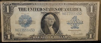 Fr 237 1923 Extra Fine/Very Fine Plus One Dollar Large Note Silver Certificate