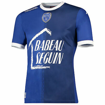 Official Troyes AC Football Home Shirt Jersey Tee Top 2017/18 Mens Kappa