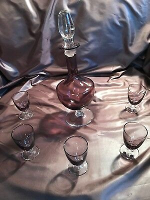 Beautiful Lavender Color Antique Glass Set
