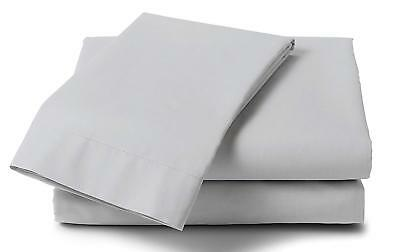 2x Cot Bed Fitted Sheet Grey Cotton Rich 120cm x 60cm size Nursery Crib Bedding
