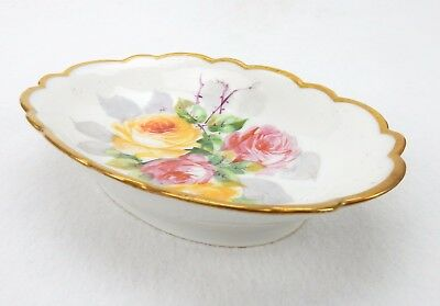 Vintage French Limoges Trinket Tray, Pin Dish, Soap DIsh, Hand Painted Limoges