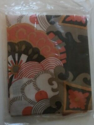 Groovy Late 60s Early 70s Unused Psychedelic.Inflatable Fabric Cushion  Vintage