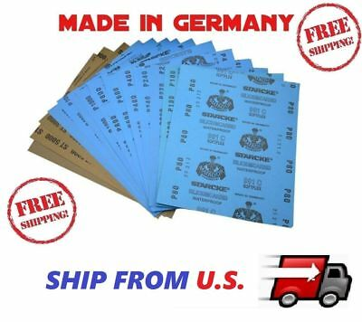 SANDING SHEETS Wet/Dry Silicon Carbide Waterproof Sandpaper Grits 9x11 USA Fast