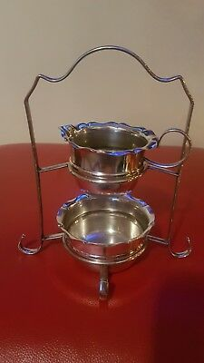 Antique/Vintage Silver Plate Sugar Bowl And Cream jug With Stand
