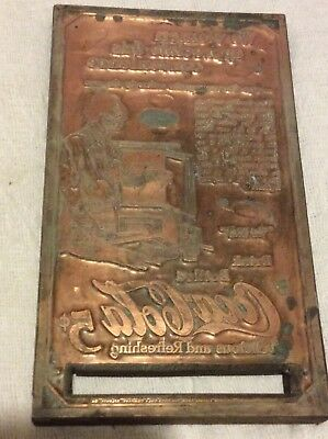 Coca Cola Collectible  Antique Brass Printing Plate