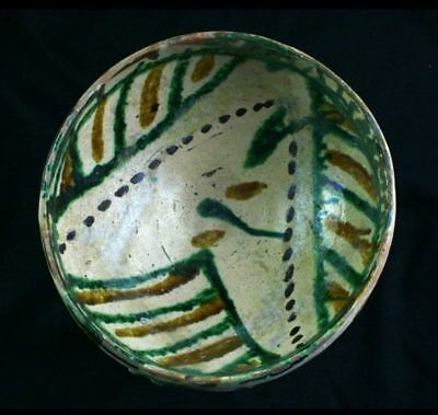 *SC*A LARGE & BEAUTYFUL GLAZED ISLAMIC POTTERY BOWL, 10th-12th cent AD!