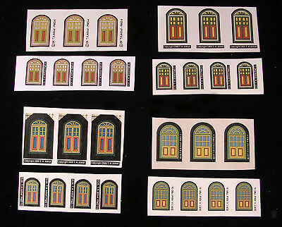Japan Cardboard Christmas Village Putz House Authentic PAPER REPLACEMENT DOORS