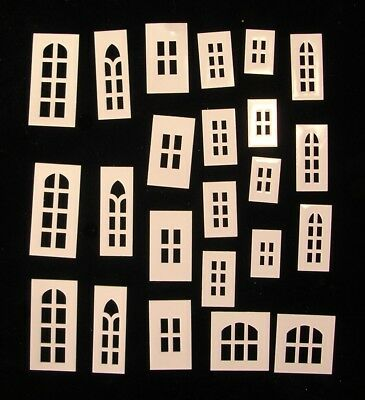 Cardboard Christmas Putz COCONUT Houses REPLACEMENT WINDOW & DOOR MULLIONS