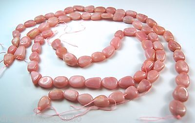 """Natural Gemstone Pink Peruvian Opal Nugget Bead Strands 15.75"""" 10mm to 14mm vary"""