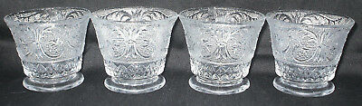 4 Duncan Miller Clear Sandwich Glass Pattern 41 Oyster/fruit Cocktail Cups Exc