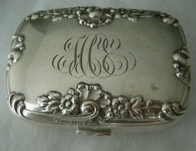 "Dominick & Haff ""Rocaille"" 19th Century Sterling Silver Soap Box"