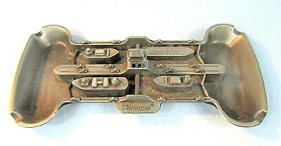 PANAMA CANAL VINTAGE METAL SOUVENIR BUILDING ASHTRAY w/ SHIPS, BARGES AND LOCKS