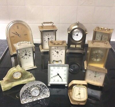 Job Lot Of Carriage Clocks And Others