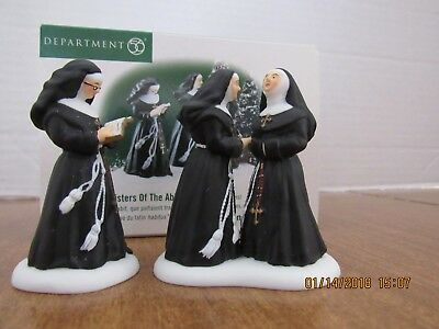 Dept 56 Alpine Village  1999 Sisters Of The Abbey 2 Pc. Set Of Nuns