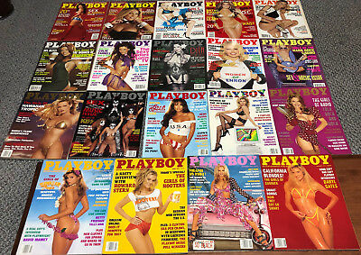 Playboy Magazine Lot of 19 Issues with Pictorials of the Women of ...
