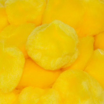 3 Inch Yellow Large Craft Pom Poms 12 Pieces