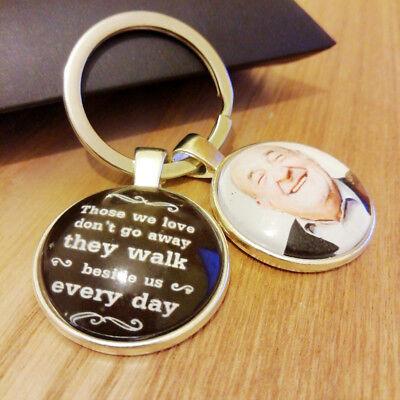 Personalised Photo Keyring - Memorial Bereavement Love Memory Gift