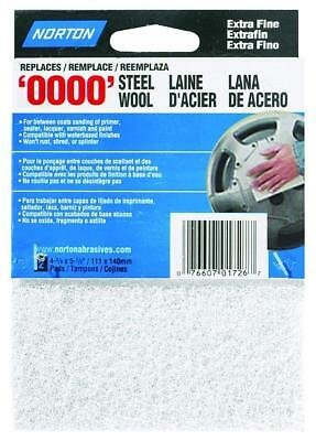 Norton 01726 Synthetic Steel Wool, White, 2-Pack, White