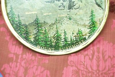 Mount Rushmore, SD, Tin Lithographed Serving Tray, President faces rock carved