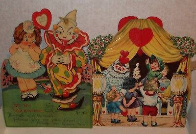 25 Pc. VTG LOT VALENTINE GREETING CARDS STAND UP MECHANICAL Baseball Cars Clowns