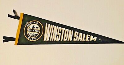 Custom Designed Winston-Salem North Carolina Vintage Style Felt Pennant Souvenir