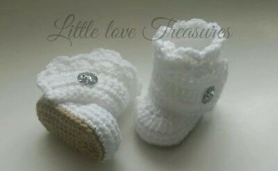 Baby Girl Crochet Booties Infant Shoes Newborn Photo Prop Baby