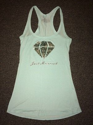 "NWOT Victoria's Secret ""Just married"" Baby Blue Tank Top"