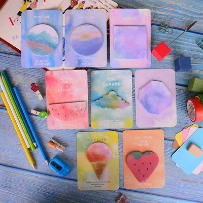 new fantastic watercolor geometric self-adhesive memo pad sticky notes bookmark3