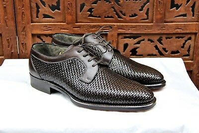 BRIONI LIMITED EDITION 388/600 HAND MADE IN ITALI CROSSHATCH size 6.5UK 39.5EU