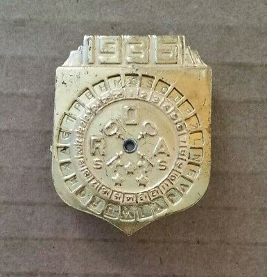 Radio Orphan Annie Secret Society Decoder Pin,1936