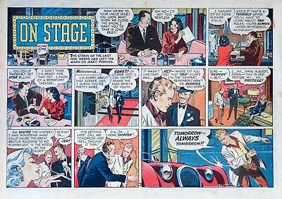 Mary Perkins On Stage by Leonard Starr - half-page Sunday comic - June 1, 1958