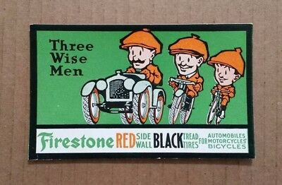 Firestone Automobile,Motorcycle & Bicycle Red Side Wall Tires,Ink Blotter,1920's