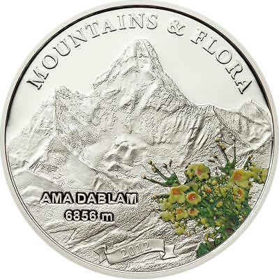 Palau 2012 $5 Mountains & Flora Ama Dablam Nepal 20g Silver Proof Coin