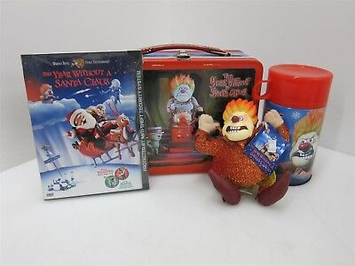 Neca A Year Without Santa Claus Lunchbox Thermos Toy DVD