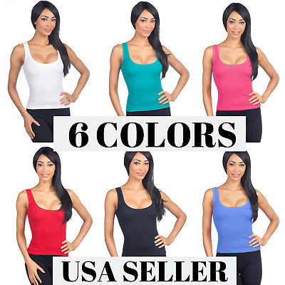 8246d450659348 Hering Junior Women s Ribbed Fitted Scoopneck Racerback Camisole Tank Top  01UW