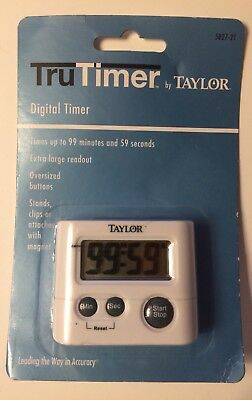 TAYLOR PRECISION PRODUCTS Digital Kitchen Timer, New, Free