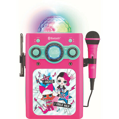 LOL Surprise Bluetooth Party Disco Ball Karaoke With Mic Christmas Birthday Gift