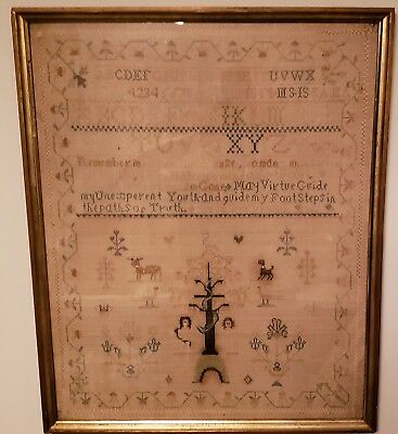 "Antique sampler - 1808 - Ruth Story 18-3/4"" X 23"" (lot 02)"