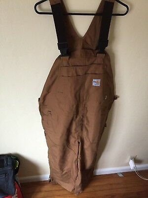 carhartt FR flame resistant overall bibs 42 x 30 BRAND NEW