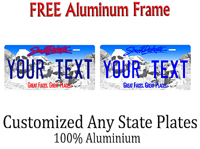 South Dakota State License Plate Personalized Custom Any Name Or Text