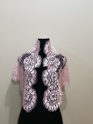 Nwt Church Head Cover Lace Mantilla Floral Veil Scarf Multi Color MADE IN SPAIN